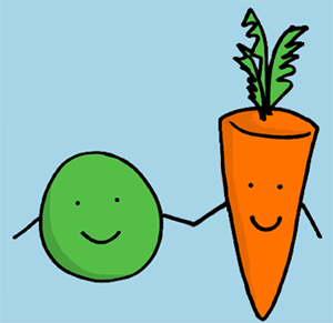 Image result for peas and carrots